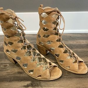 Matisse Lace Up Suede Sandals